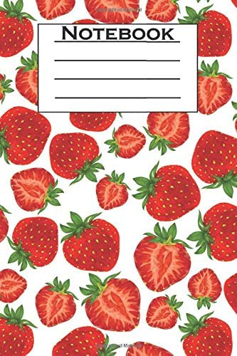 Strawberry Notebook Cute Strawberry Pattern Themed Journal Notebook Strawberry Gifts for Girls product image