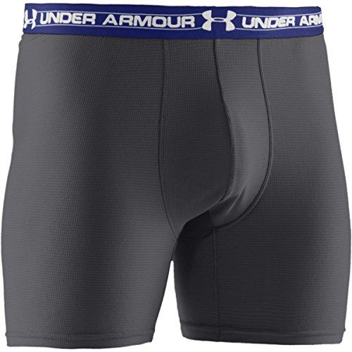 """Under Armour Collant en Filet Boxerjock Homme 6"""" S Gris - Graphite"""