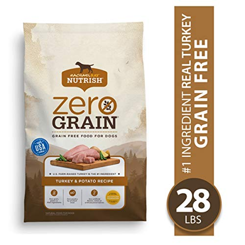 Rachael Ray Nutrish Zero Grain Natural Dry Dog Food, Turkey & Potato Recipe, 28 Pounds, Grain Free (18225803)