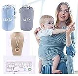 Fular Portabebés. Algodón ORGÁNICO/ECOLÓGICO Certificado. PERSONALIZADO. Incluye collar de lactancia Montessori.