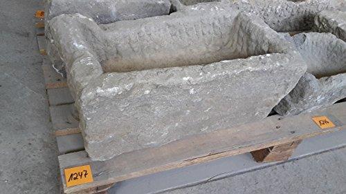 Der Naturstein Garten Alter Trog aus Granit 55 cm lang Brunnen Steintrog - G1247 Granittrog Waschbecken