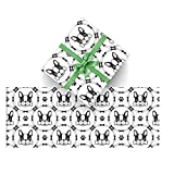 CUXWEOT Gift Wrapping Paper French Bulldog for Christmas,Birthday,Holiday,Wedding,Gifts Packing - 3Rolls - 58 x 23inch Per Roll