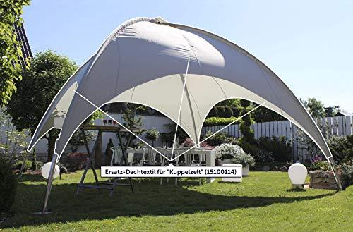 Leco Ersatz-Dachtextil für Kuppelzelt (15100114),grau,5,0 x 5,0 m
