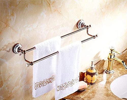 LSLS Toallero, toallero con doble barra de toalla de baño, toalla, barra de pared para baño, piscina, colgador de torre de cocina