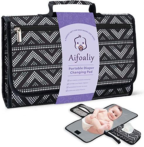 Portable Diaper Changing Pad for Baby Reusable Changing Mat with Wipes Pocket for Travel Baby product image