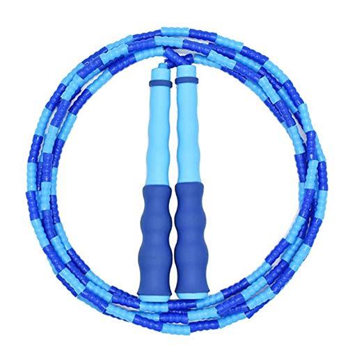 BCGG® Kinder Springseile, Bambus Springseil verstellbares Springseil, für Anfänger erwachsenes Kind Mädchen Junge Sporttraining Geschenk Spielzeug Blau