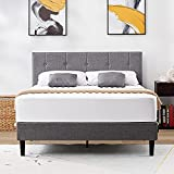 DIKAPA (Fast Delivery Free Antique Bed Frame Metal Structure Full Size Headboard and Country Style Iron-Art Steel Footboard Support Box Spring,Retro Industry Style Headboard