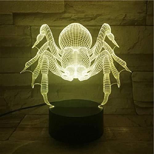 Insektenspinnen, 3D-Lampe, LED, USB, Stimmung, Nachtlicht, Farbverlauf, mehrfarbig, Urlaub, Heimdekoration, Araneid, Spinner, Flycatcher, AA-Batterie