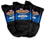Extra Wide Comfort Fit Athletic Quarter (Anklet) Socks for Men - Black - Size 16.5-21 (up to 6E wide) - 3PK