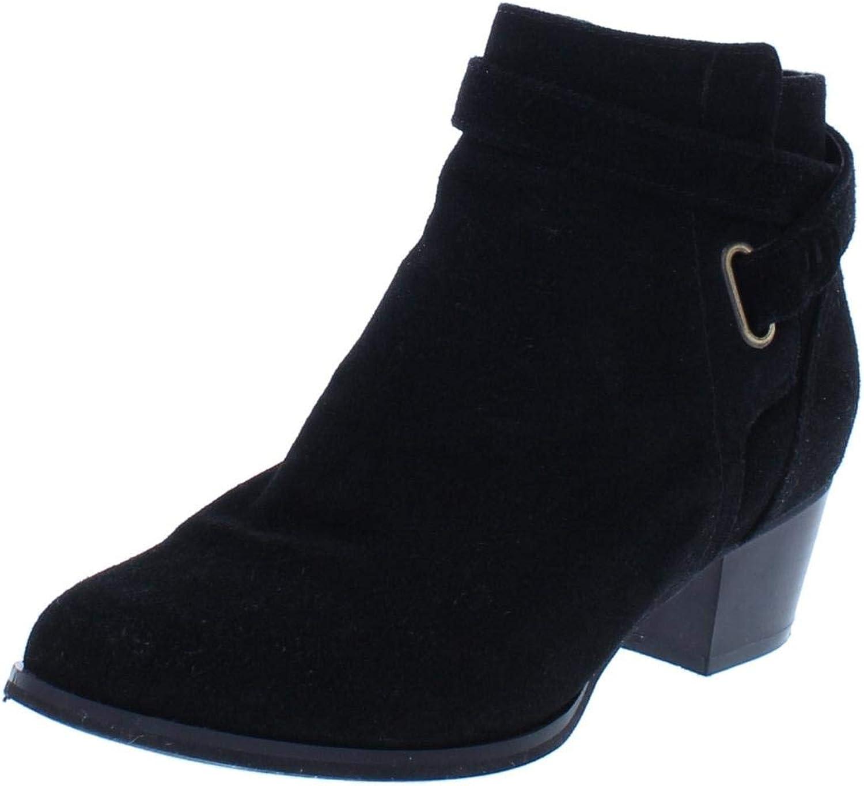 Giani Bernini Womens Oleesia Suede Ankle Booties Black 6.5 Medium (B,M)
