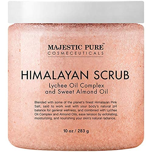 Majestic Pure Himalayan Salt Body Scrub with...