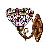 OPW Lámpara De Pared Tiffany Vintage Lámparas De Aplique De Vitrales Creativos E27 Pantalla De Lámpara De Vidrio De Colores Accesorio De Lámpara De Pared para Dormitorio Sala De Estar Pasillo