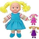 #1118 Weichkörperpuppe Dolly mit Wollhaaren 38 cm - Weichkörper Puppe Baby Schlenkerpuppe...