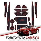 para la Almohadilla de la Ranura de la Puerta, para Toyota Camry 2018 2019 2020 XV70 70, para Daihatsu Altis 18pcs Alfombrilla Antideslizante/Almohadilla de la Puerta Interior