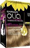 Garnier Coloration Permanente, Sans Ammoniaque, Aux Huiles Naturelles de Fleurs, Blond Doré (7.3), Olia