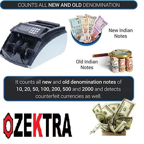 ZEXA 1500 Counting Speed - >1000pcs/min. Detects Fake Note (Old & New Currency)