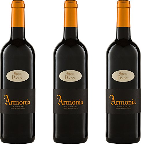 Domaine Bassac Puissalicon 'Armonia' Rouge 2015 Cuvée Trocken ( 3 x 0.75 l)