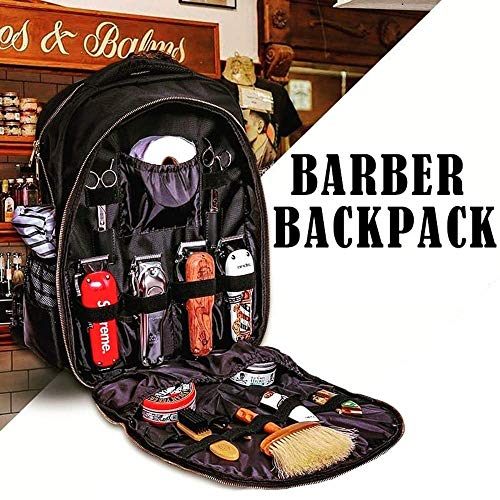 Herramientas de peluquería Mochila Clipper Tijeras Peine Secador de Pelo Suministros Multifunción Barber Almacenamiento Bolsa Peluquería Mochila*Producto No.:WW-114