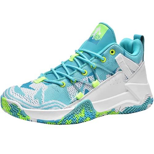 Juyouqian Zapatillas deportivas para hombre para correr y correr tenis de moda, transpirables, color negro, blanco, amarillo y azul, Blue, 42.5 EU