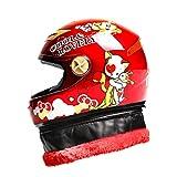 NJ Casque- Casque pour enfant moto électrique garçon fille enfant bébé quatre saisons dessin animé casque hiver casque intégral (Couleur : G-21X28CM)