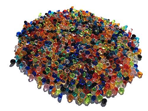 1500pezzi 5mm glitzernde disegno decorativo diamanti brillianten strass pietre in acrilico trasparente cristallo basteln gltzer pietre gioielli pietre Strass per decorare decorazione di Crystal King