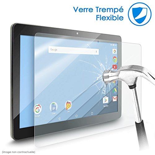 Karylax Bildschirmschutzfolie aus flexiblem Nano-Glas, Festigkeitgrad 9H, ultradünn, 0,2 mm & 100 prozent transparent, für Tablet Allview Viva H1001 LTE