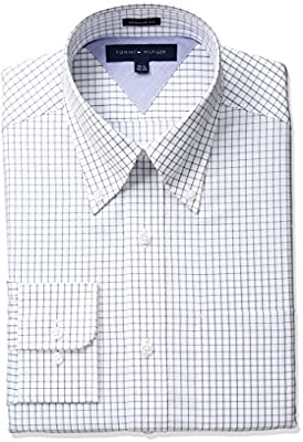 Tommy Hilfiger Men's Dress Shirt Regular Fit Check