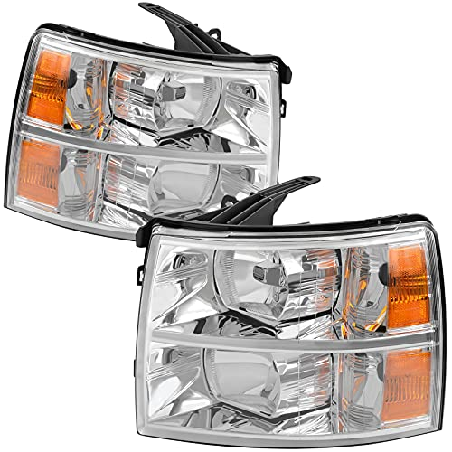 AUTOSAVER88 Headlight Assembly Compatible with 2007-2014 Chevy Silverado Replacement Headlamp...