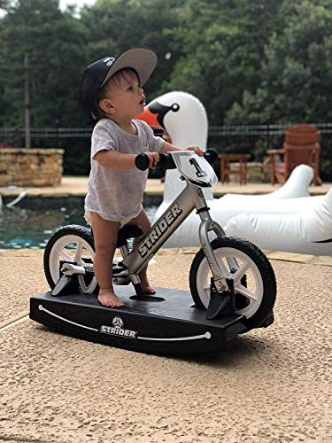 Strider Pro 2-in-1 Rocking Bike, for Ages 6 Months to 5 Years, Pro Silver
