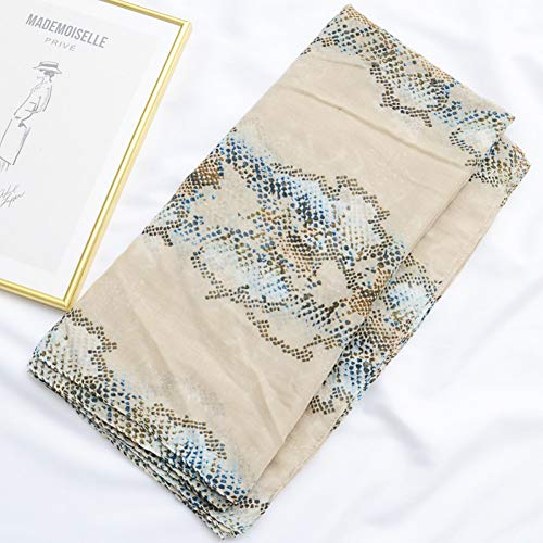 YCEOT vrouwen slangenprint sjaal vrouwelijke herfst lente mode lange slang patroon sjaal uitlaat cape sjaal