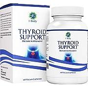 Thyroid Support Supplement - (Vegetarian) - natural blend of Vitamin B12, Iodine, Zinc, Selenium, Ashwagandha Root, Copper, Coleus Forskohlii & more - 30 Day Supply