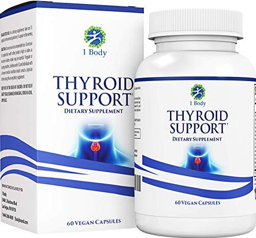 Thyroid Support Supplementwith Iodine- Metabolism, Energy & Focus Formula - Vegetarian& Non-GMO- Vitamin B12 Complex, Zinc, Selenium, Ashwagandha, Copper, Coleus Forskohlii & More 30 Day Supply