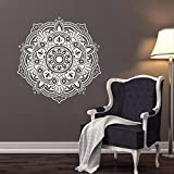 SLQUIET Mandala Lotus Wall Decal Removable Vinyl Wall Sticker Window Poster Sweet Home Decal Decor Home Decor And Garden Fashion Wall Stickers 19 green 57x57cm