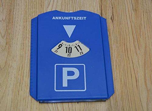 Interbosch Parkscheibe + Eisschaber, Parkuhr mit Eiskratzer & Gummilippe, blau, Kunststoff