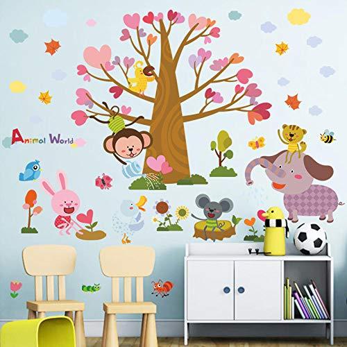 Runinstickers muurstickers, modieus, fris, creatief hartvormige, grote boom, olifant, dier, doe-het-zelver, vinyl, woonkamer, slaapkamer, decoratie sticker
