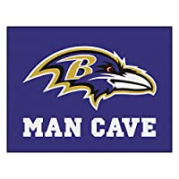 FANMATS 14268 NFL Baltimore Ravens Nylon Universal Man Cave All-Star Mat