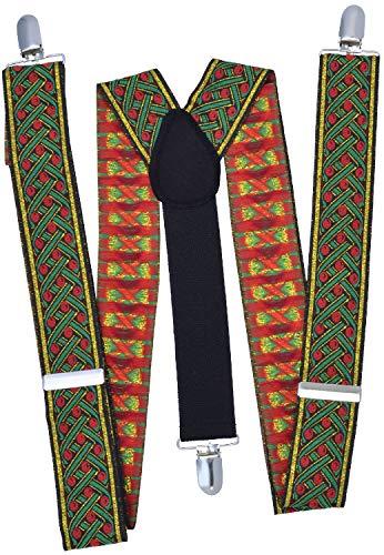 Costume de Père Noël traditionnel pour homme avec bretelles