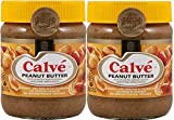Calve Peanut Butter, Crunchy with Peanut Pieces, Dutch. Imported from Holland. - 12.35oz/350gr -...
