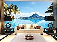 カスタム写真の壁紙シービューリビングルーム寝室ソファテレビ風景地中海の休日気分壁画400cmx280cm