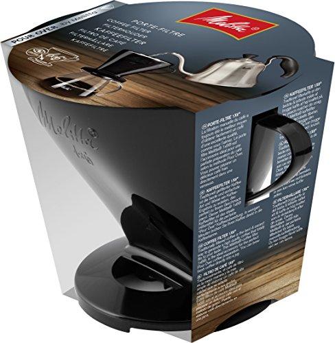 Melitta Kaffeehalter für Filtertüten, Kaffeefilter 1x6 Standard, Kunststoff, Schwarz, 217571