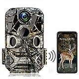 WiMiUS H8 Caméra de chasse WiFi 24MP 1296P WiFi Caméra de chasse avec détecteur de mouvement...