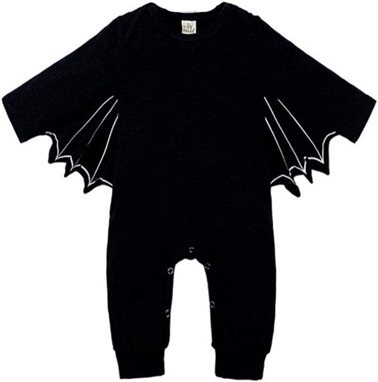 35 inch Short kungfu Mall Toddler Newborn Baby Boys Girls Bat Pattern Romper Hat and Rattle Drum for Halloween Xmas Party Fancy Dress Cosplay Costume