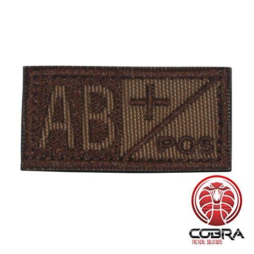 Cobra Tactical Solutions Patch Militaire Écusson Brodé sa lanière Hook & Loop Airsoft/Paintball Condor Sang Patch Khaki/Marron AB Sac à Dos Tactique Vêtements.