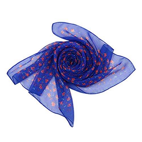 Monbedos Georgette materiaal sjaal roze veerpatroon sjaal voor dames lange sjaal strand zomer chiffon sjaal 150 * 50cm 160 * 50cm koningsblauw
