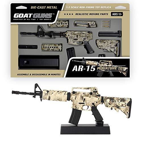 GoatGuns Miniature AR15 Camouflage Display Model   1:3 Scale Build Kit