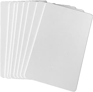 Premium Blank PVC Cards for ID Badge Printers Graphic Quality White Plastic CR80 30 Mil for Zebra Fargo,Magicard Printers (20pcs)