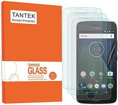 TANTEK 3 Pack Screen Protector for Motorola Moto G5 Plus MOTO G Plus 5th Generation Tempered product image