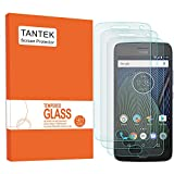 TANTEK [3-Pack] Screen Protector for Motorola Moto G5 Plus (MOTO G Plus 5th Generation),Tempered Glass Film,Ultra Clear,Anti Scratch,Bubble Free,Case Friendly
