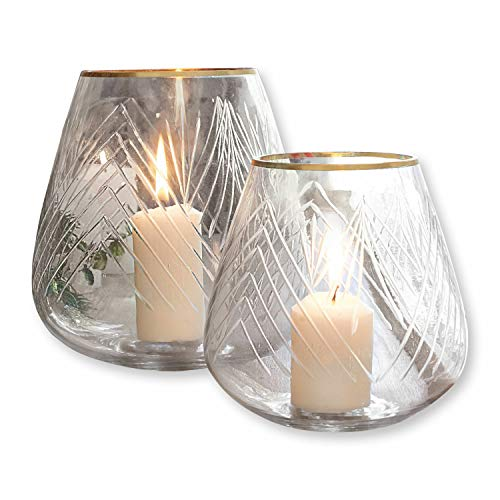 Loberon Windlicht 2er Set Teréla, Glas, klar