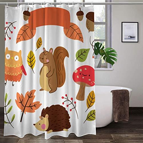 XCBN Cortina de Ducha con Estampado 3D para Perros y Animales, Cortina de baño Impermeable, Cortinas de decoración de baño Lavables con Pulpo A6 150x180cm